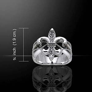 Celtic Fleur De Lis Royal Silver Ring (French them)