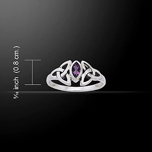 Exquisite Silver Celtic Knot Birthstone Ring (Gorgeous Ring)
