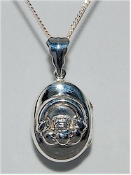 Claddagh Silver Celtic Love Locket