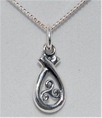 Celtic Triskele Loop Knot Irish Pendant