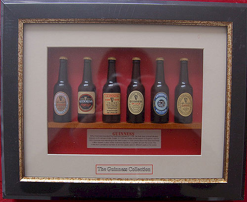 irish wall plaques guinness irish miniature beer bottle collection