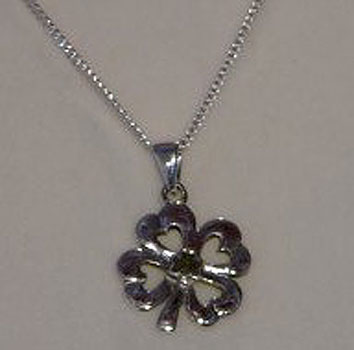 Lucky Four Leaf Clover Silver  &