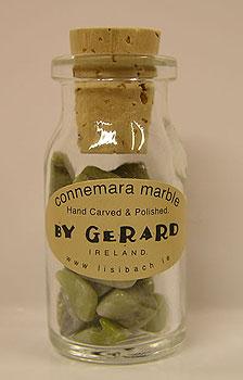 Miniature Corked Bottle of Connemara (Ffor Good Luck)