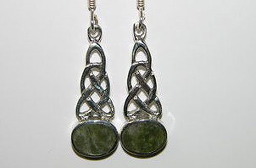 Celtic Knot Silver Wire Oval Earrings