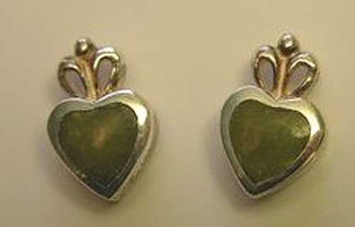 Claddagh Connemara Marble Earrings
