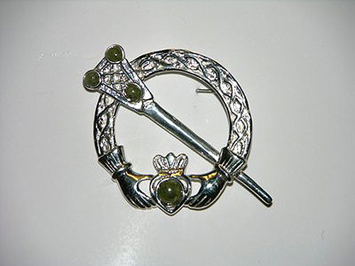 Sterling Silver & Connemara Marble