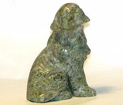 Connemara Marble Hand Carved Dog (Irish Made)