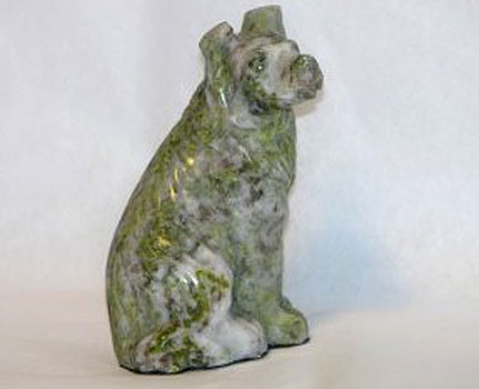 Hand Carved Dog (Irish Connemara Marble)