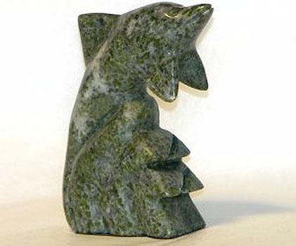 Connemara Marble Hand Carved Dolphin (Irish Made)