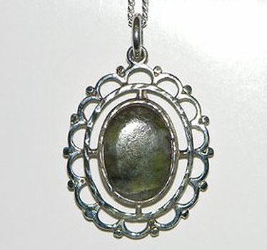 Connemara Marble Sterling Silver (Celtic Pendant)