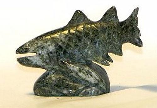 Hand Carved Fish (Irish Connemara Marble)