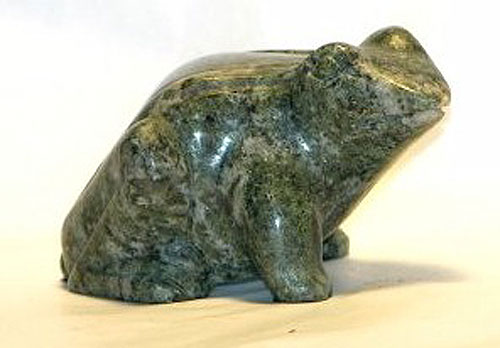 Gemstone Hand Carved Frog