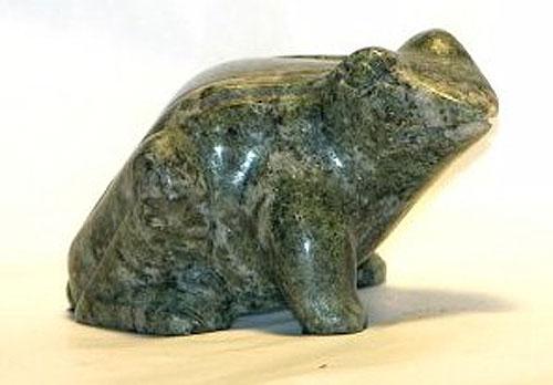 Gemstone Hand Carved Frog (Irish Connemara Marble)