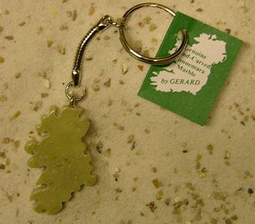 Map Design Irish Keyring