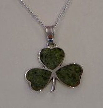 Shamrock Irish Pendant with
