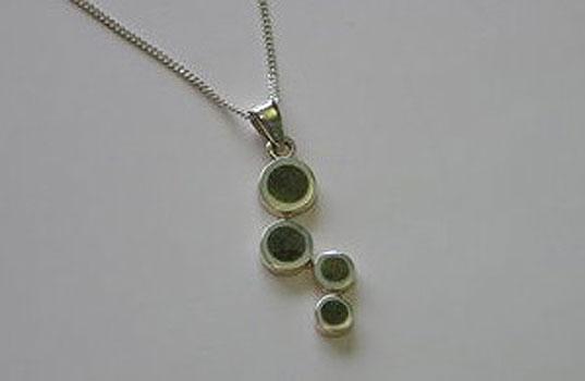 Celtic Pendant Bubbles Design (Irish Connemara Marble)