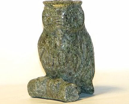 Connemara Marble  Carved Owl