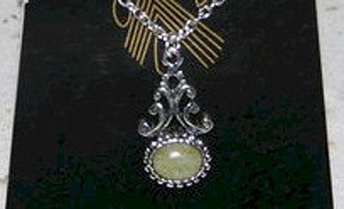Silver & Connemara Marble Pendant