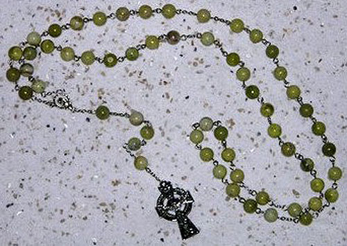 Connemara Marble Rosary Beads (Irish Made)