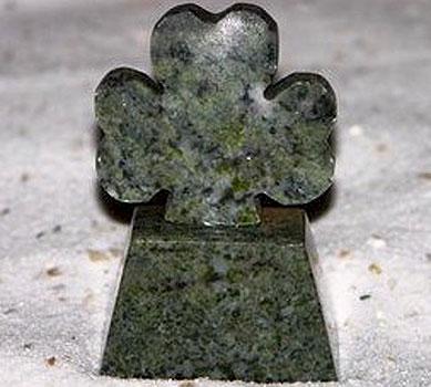 Irish Shamrock on Base (Connemara Marble)