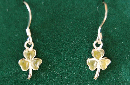 Connemara Marble Shamrock Earrings