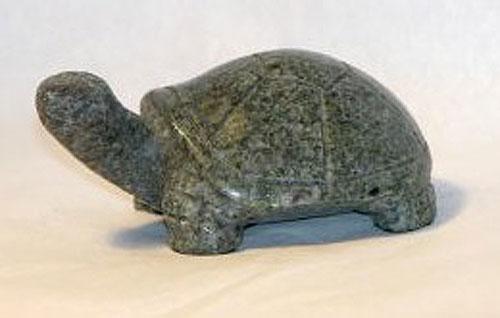 Hand Carved Turtle (Irish Connemara Marble)