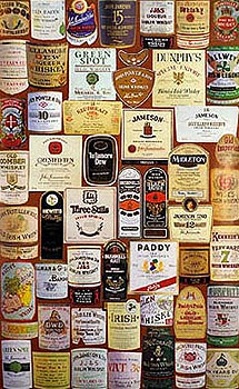 Irish Whiskey Labels Large Poster