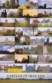 Old Irish Medieval Castles Poster