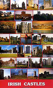 Irish Medieval Castles Poster (by Liam Blake)