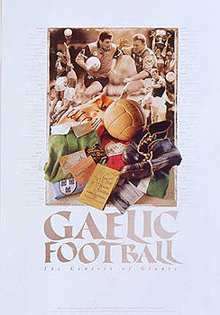 Irish Gaelic Football Montage Poster