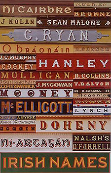 Family Names Of Ireland Shopfronts Poster