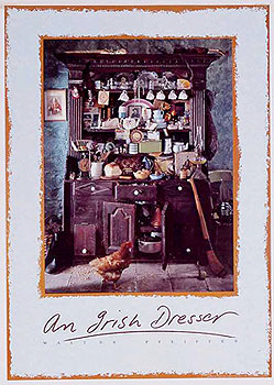 A Traditional Irish Dresser Large Poster