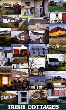 Traditional Irish Cottages Poster Ireland