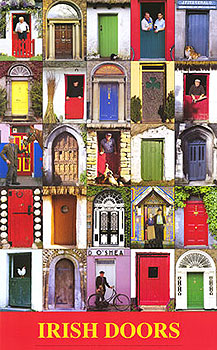 Traditional Irish Doors Poster