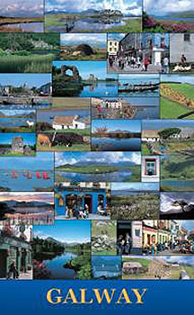 County Galway Landscapes Poster Ireland