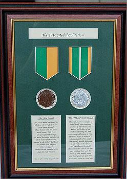 1916 Easter Rising Survivors Medals (Framed Replica Set)