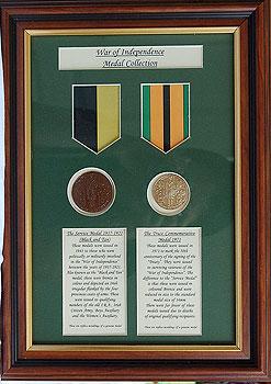 War Of Independence Survivors Medals (Framed Replica Set)