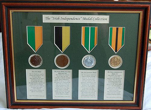 Easter Rising & Irish War Independence Medals (Framed Replica Sets)
