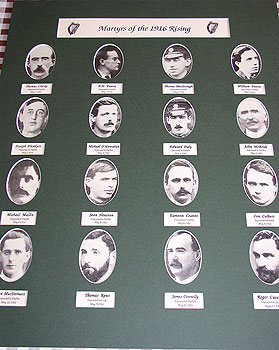 Portraits of the sixteen executed leaders of the easter rising 1916