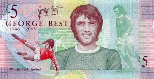 George Best £5 Northern Ireland Note (Legal Tender)
