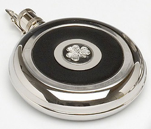 Shamrock Whiskey Flask - Built in Measure