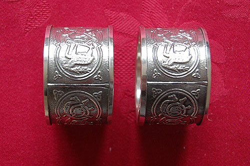 Celtic Napkin Ring Holders