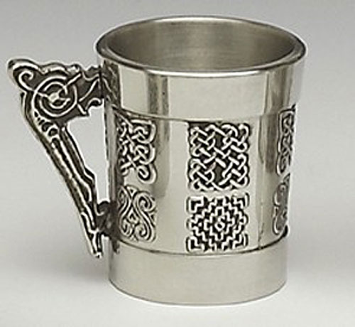 Celtic 1oz Whiskey Measure with handle