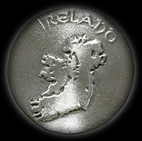 Ireland Map Pewter Keyring
