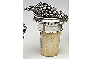 Pewter Cork - Grapes -2 (Crafted in Ireland)