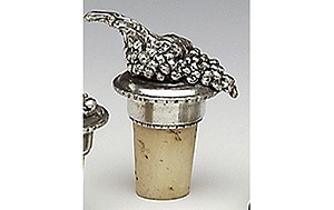 Pewter Cork - Grapes -3 (Made in Ireland)