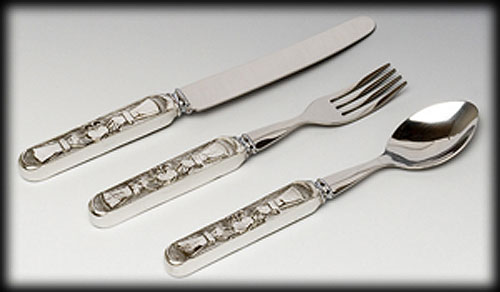 Claddagh Baby Pewter Cutlery Set (Fork, Knife & Spoon)