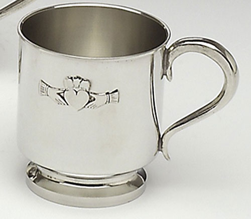 Pewter Claddagh Baby Cup