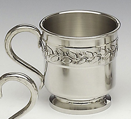 Pewter Leaf Baby Cup
