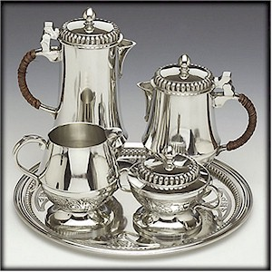 Irish Pewter Tea & Coffee Set